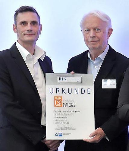 IHK Award 2019 - Platz 3 in der Rubrik 'Non-Profit'